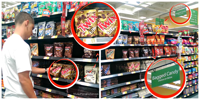 Find TWIX Bites in the candy aisle at WalMart
