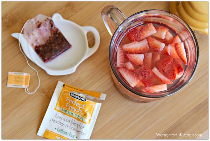 fruit infused iced tea
