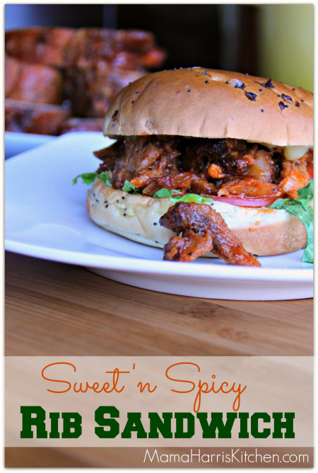 Sweet 'n Spicy Rib Sandwich