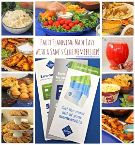Party Planning Made Easy with a Sam's Club Membership! #TrySamsClub