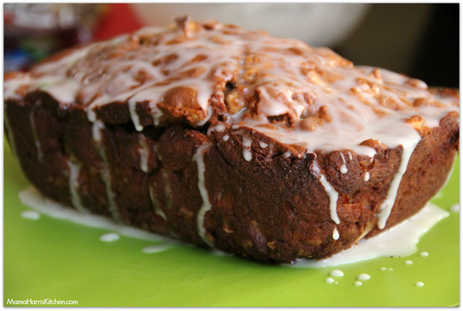 Fun Fall Recipes: Caramel Apple Bread with M&M's - Mama Harris' Kitchen