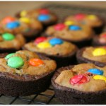 Pumpkin Brookies with M&M's – Inspired by Superheroes