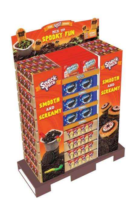 Snack Pack Walmart Display #SnackPackMixins #shop #cbias