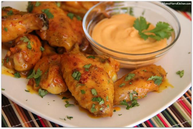 Baked Honey Mustard Wings #ChicksWingIt #WingItWednesday - Mama Harris' Kitchen