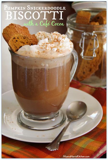 Pumpkin Snickerdoodle Biscotti and a Cocoa Café Recipe