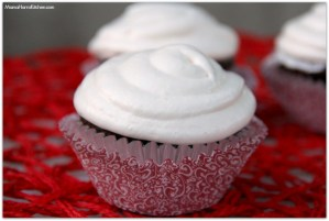 Chocolate Cupcakes with Marshmallow Cream Frosting