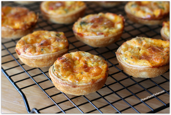 mini breakfast quiche with hormel pepperoni #PepItUp #ad - Mama Harris' Kitchen