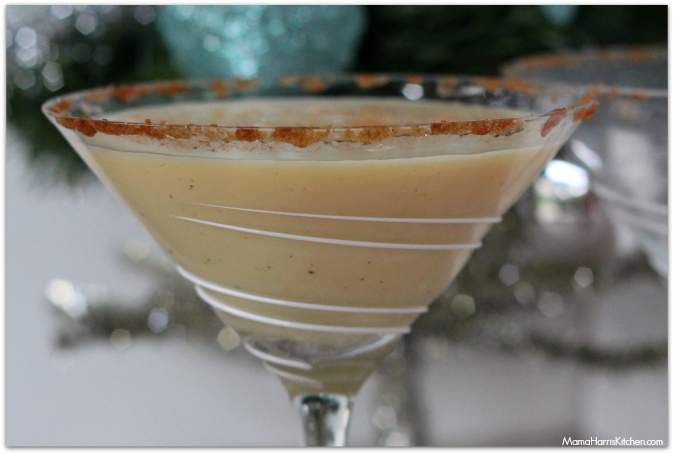 White Chocolate Spiked Egg Nog Recipe - Mama Harris' Kitchen