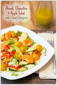 Almond, Clementine & Apple Salad with Lemon Vinaigrette