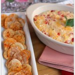Pimento Queso Dip with Heart Shaped Tortilla Chips