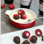 Yogurt Filled Chocolate Covered Raspberries