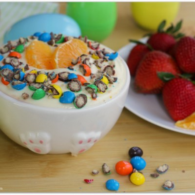 Orange Cream Fruit Dip with M&M's® Crispy