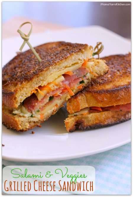 Salami and Veggies Grilled Cheese Sandwich