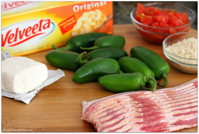 bacon wrapped queso stuffed jalapenos with VELVEETA® #LiquidGold5 (ad)