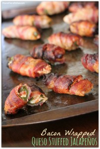 Bacon Wrapped Queso Stuffed Jalapeños
