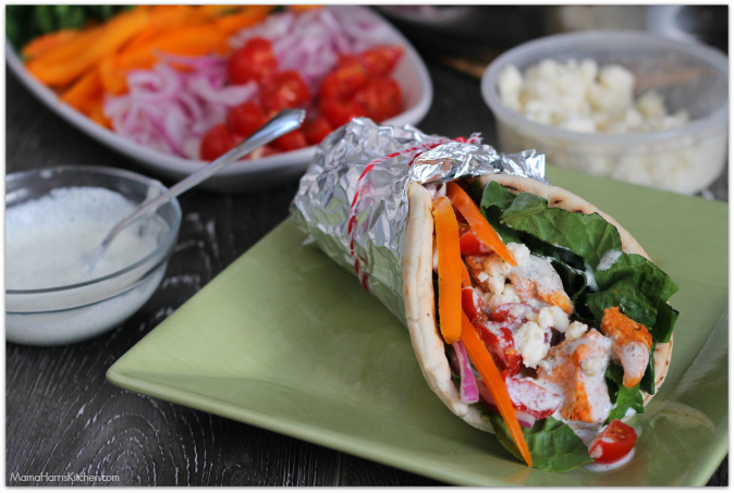 Easy Chicken Gyros with Tzatziki Sauce #FosterFarmsFresh AD | Mama Harris' Kitchen