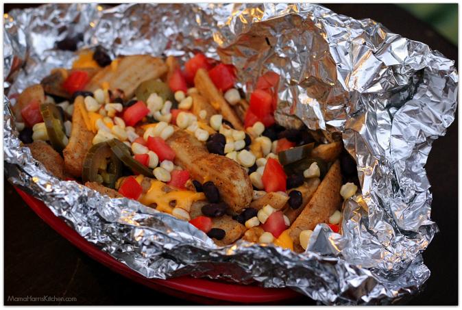 campfire tex-mex nacho fries with velveeta #liquidgold5 #ad   Mama Harris' Kitchen