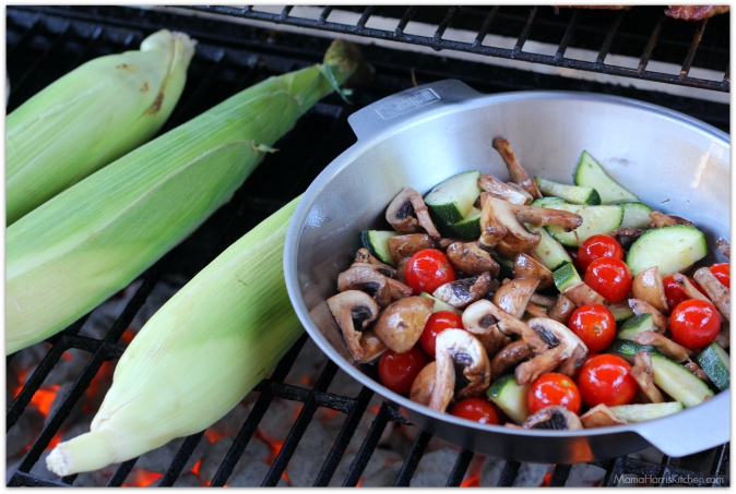 grilled corn on the cob grilled mushrooms grilled tomatoes grilled zucchini
