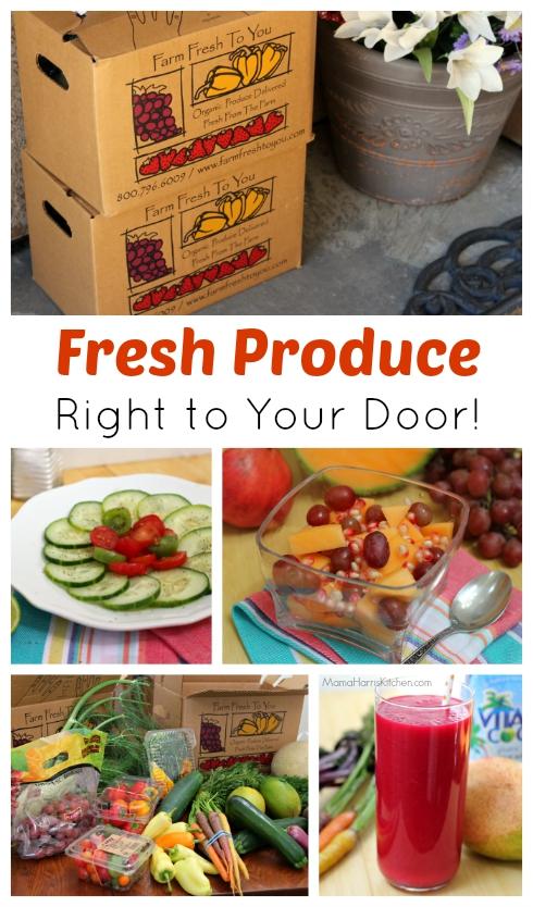 Fresh Produce Right to Your Door #FarmFreshToYou (ad) | Mama Harris' Kitchen