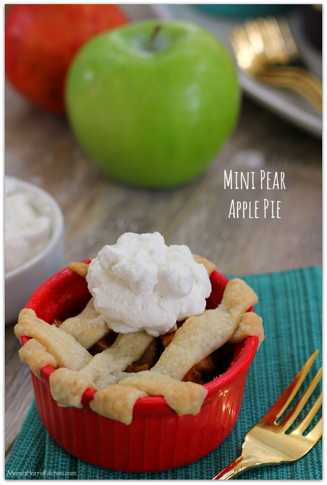 Low Calorie Mini Pear Apple Pies using @ZingStevia! AD #SKExperts| Mama Harris' Kitchen