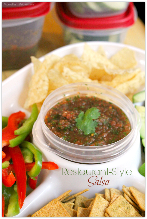 Easy Restaurant Style Salsa | Mama Harris' Kitchen