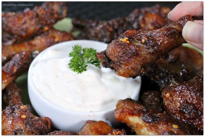 Ginger Honey Garlic Wings with French Onion Dip #ChicksWingIt #WingItWednesday | Mama Harris' Kitchen