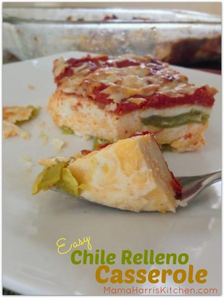 Thanksgiving for the Vegetarian - 12 Recipe Ideas - easy chile relleno casserole   Mama Harris' Kitchen