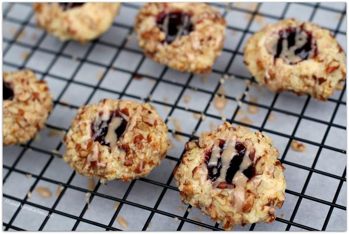 Cherry Pecan Thumbprint Cookies