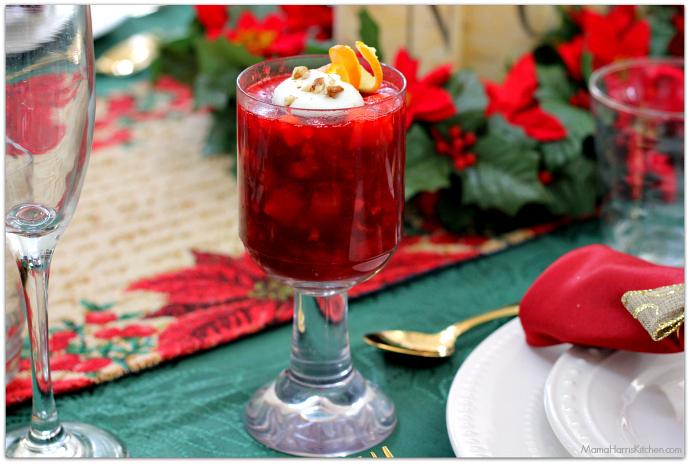 Cranberry Salad Mini Parfaits #BIGSeason #BigLots AD #cbias | Mama Harris' Kitchen