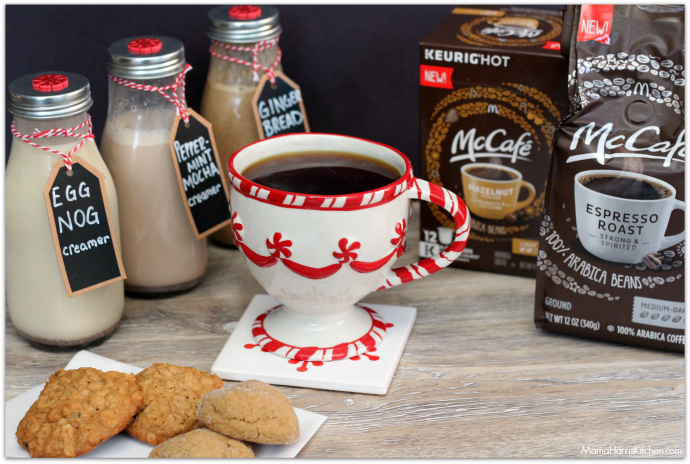 Try These Homemade Coffee Creamer Flavors For the Holidays with McCafe Coffee! #McCafeAtHome #IC AD | Mama Harris' Kitchen