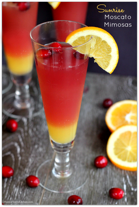 Sunrise Moscato Mimosas | Mama Harris' Kitchen