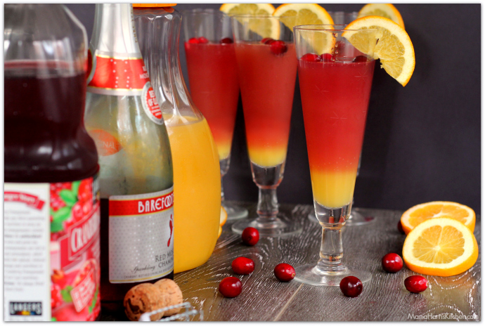 Sunrise Moscato Mimosas | Mama Harris' Kitchen
