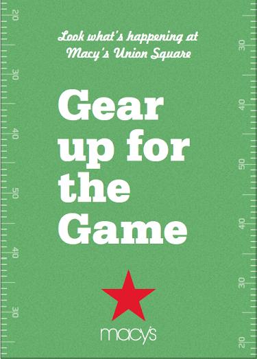 MacysEndZone San Francisco Game Day