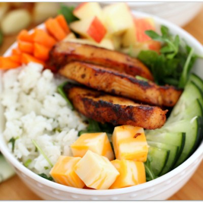 Chicken and Cilantro Rice Salad Bowl