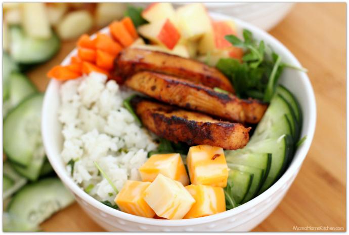 Chicken and Cilantro Rice Salad Bowl