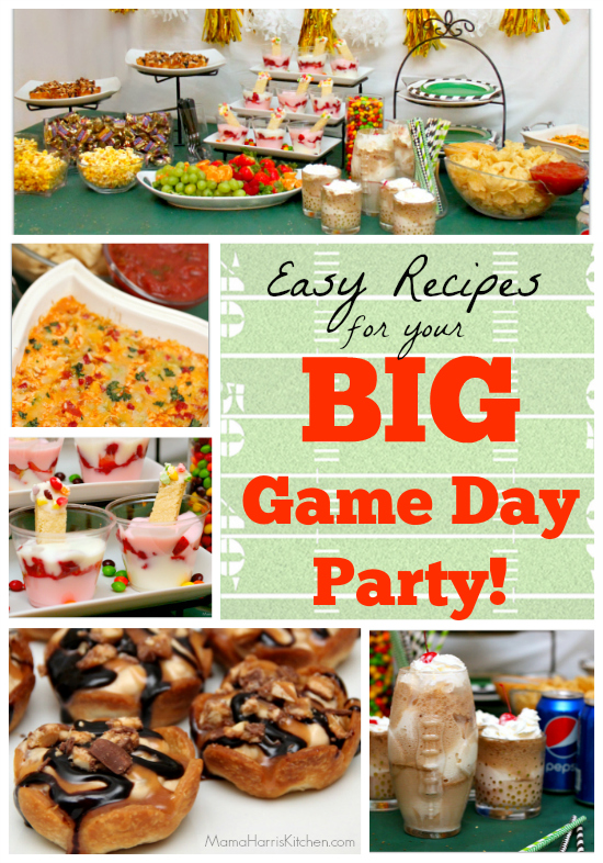Easy Recipes for your BIG Game Day Party! #GameDayGlory AD | Mama Harris' Kitchen
