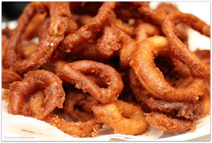 Beer-Battered Onion Rings | Mama Harris' Kitchen