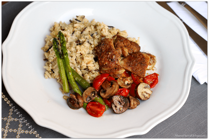 Sheet Pan Dinner: Chicken Asparagus Mushroom Tomatoes #NewComfortFood AD | Mama Harris' Kitchen