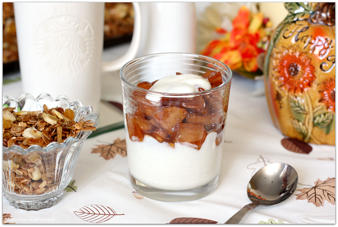 Apple Yogurt Parfaits with Homemade Fall Flavors Granola #StarbucksAtHome #SavorEverySip AD | Mama Harris' Kitchen