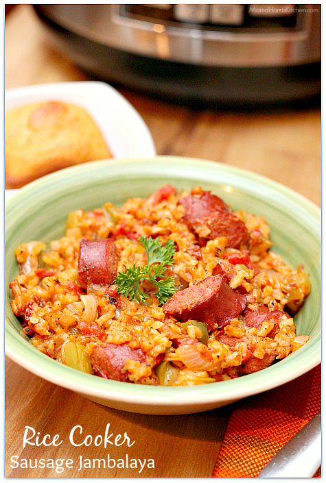 Rice Cooker Sausage Jambalaya | Mama Harris\' Kitchen