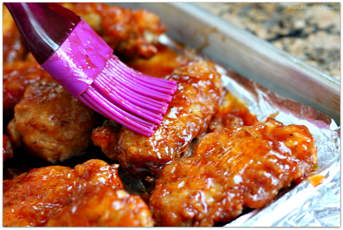 Hawaiian BBQ Chicken Wings #ChicksWingIt #WingItWednesday | Mama Harris' Kitchen