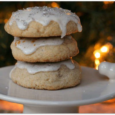 Chai Spiced Sugar Cookies with Vanilla Bean Glaze
