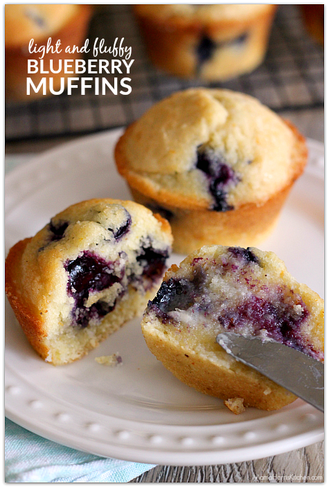 bd8063738e6 Light and Fluffy Blueberry Muffins