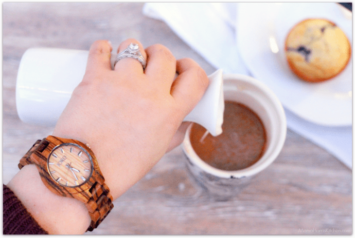 JORD wood watches Fieldcrest Zebrawood and Maple | Mama Harris' Kitchen