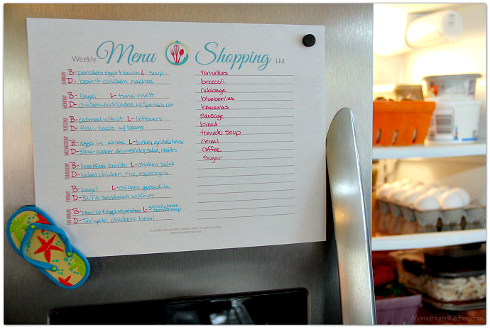 Refrigerator Organization and Meal Planning Tips (FREE Printable!) #OrganizeWithBrilliance AD | Mama Harris' Kitchen