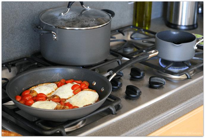 20 Minute Caprese Chicken PLUS a Circulon GIVEAWAY AD   Mama Harris' Kitchen