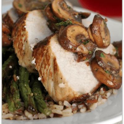 Mushroom Lovers' Roasted Pork Loin and Green Beans
