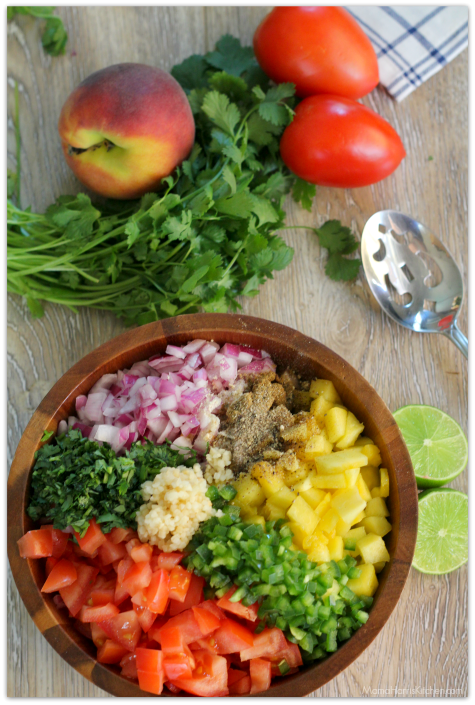 Peach Pico de Gallo | Mama Harris' Kitchen