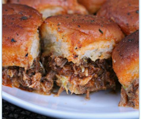 Instant Pot Bourbon BBQ Pulled Pork Sliders   Mama Harris' Kitchen
