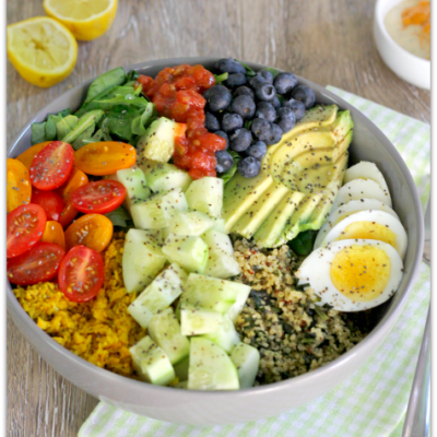 Quinoa Veggie Bowl with Chipotle Ranch